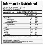 etiqueta nutricional carbohidratos fibra dietetica